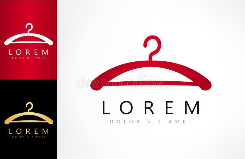 Logotipo do vetor do gancho de roupa ilustração royalty free