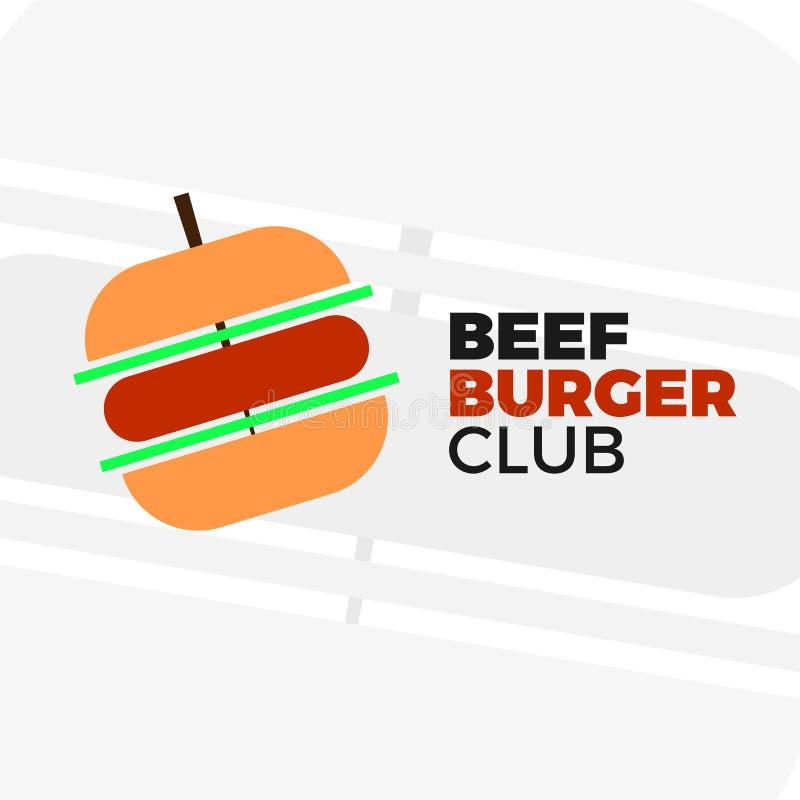 Logotipo do vetor do hamburguer ilustração do vetor