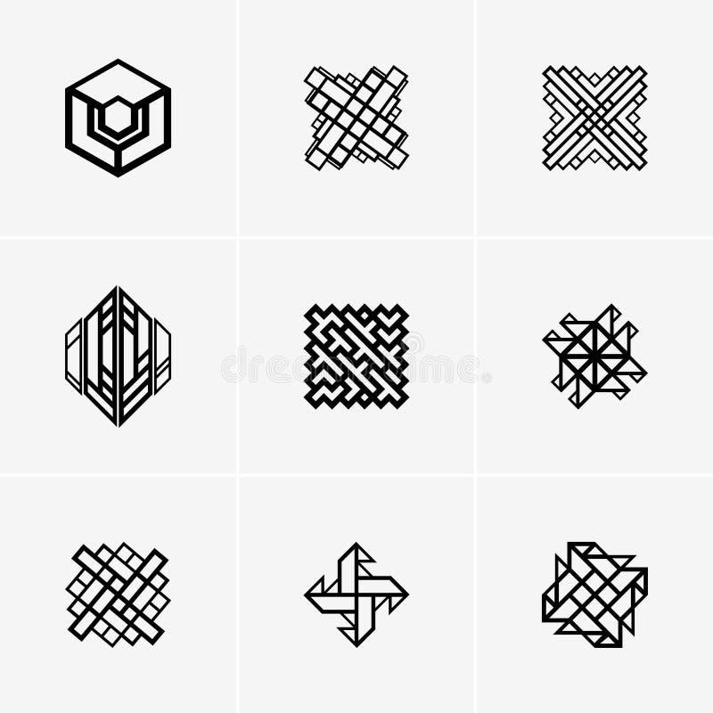 Logotipo do vetor ou projeto abstrato moderno do elemento Melhor para a identidade e os logotypes foto de stock