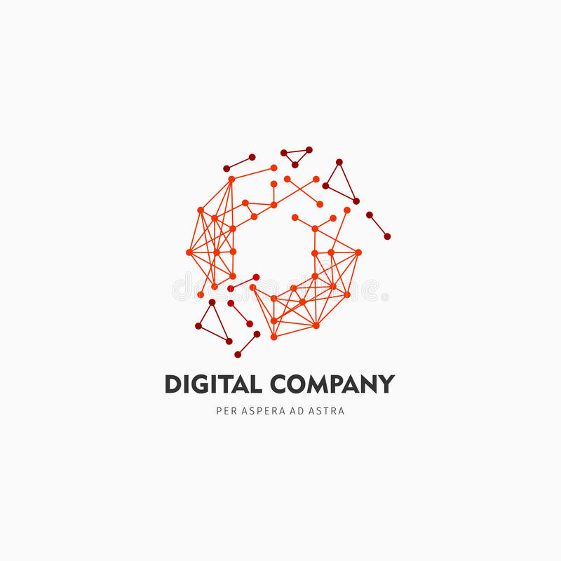 Logotipo do vetor ou projeto abstrato moderno do elemento Melhor para a identidade e os logotypes Forma simples imagem de stock