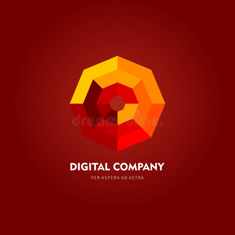 Logotipo do vetor ou projeto abstrato moderno do elemento Melhor para a identidade e os logotypes Forma simples foto de stock royalty free