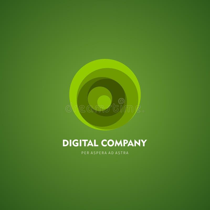 Logotipo do vetor ou projeto abstrato moderno do elemento Melhor para a identidade e os logotypes Forma simples fotos de stock