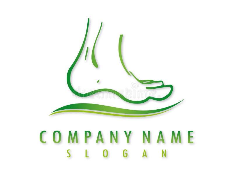 Logotipo do vetor do pé ilustração royalty free