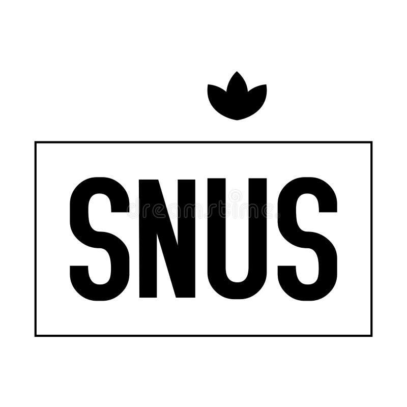 Logotipo do vetor do pó para inalações e do cigarro de mastigação ilustração stock