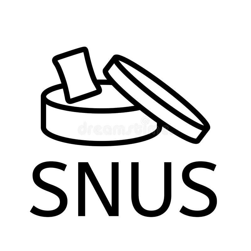 Logotipo do vetor do pó para inalações e do cigarro de mastigação ilustração royalty free