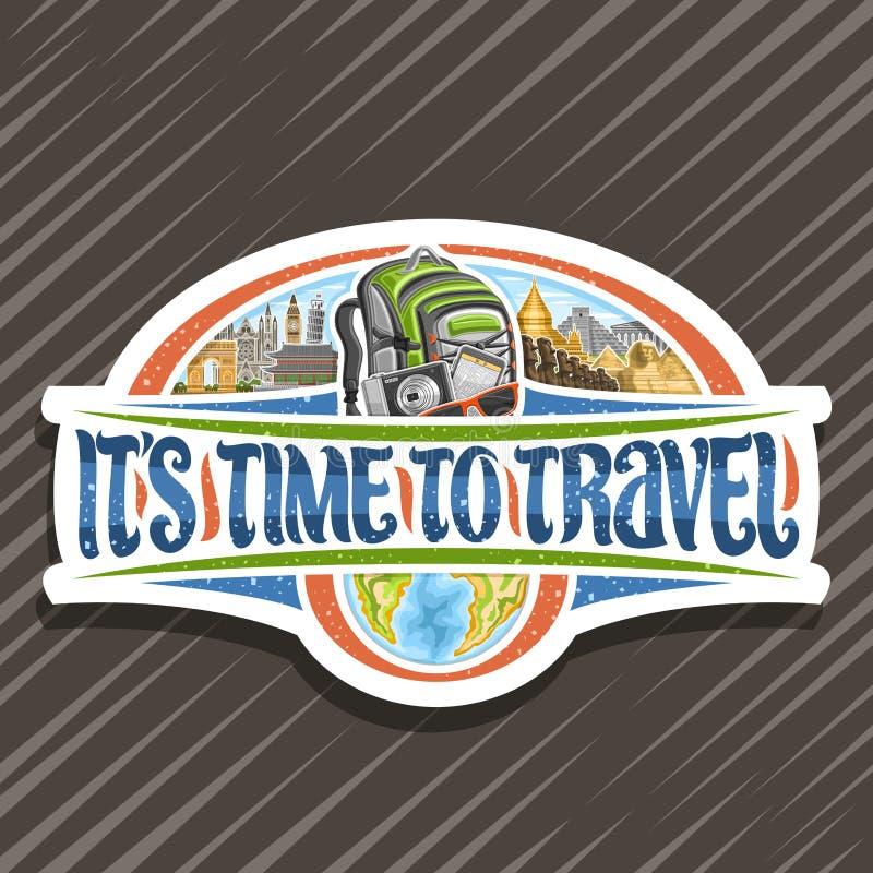 Logotipo do vetor para a agência de viagens ilustração royalty free