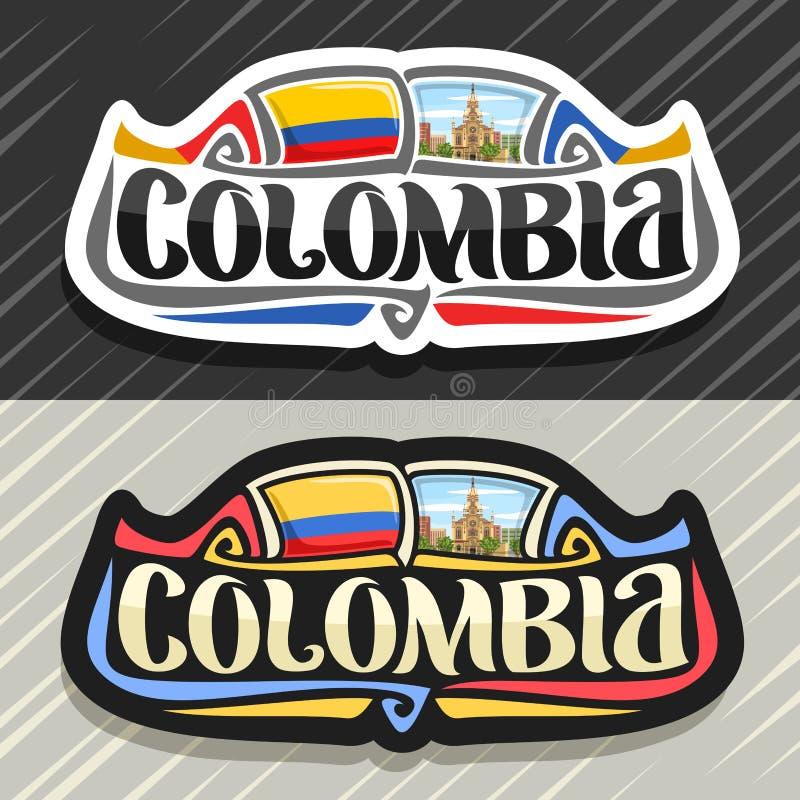 Logotipo do vetor para Colômbia ilustração stock