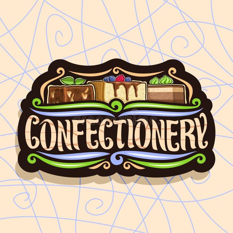 Logotipo do vetor para confeitos ilustração do vetor
