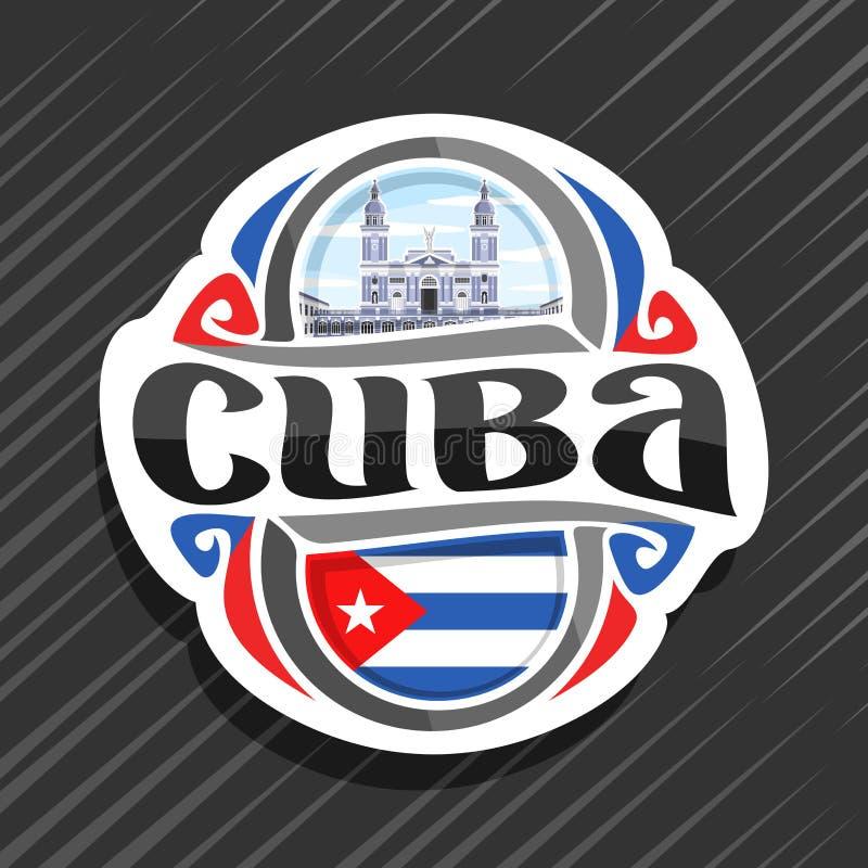 Logotipo do vetor para Cuba ilustração royalty free
