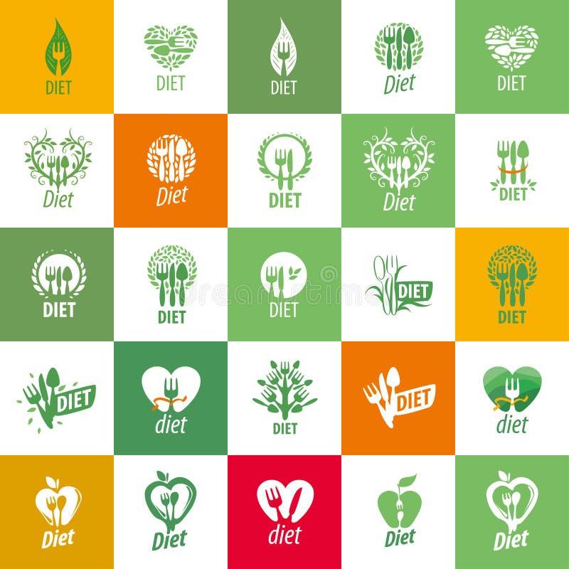 Logotipo do vetor para a dieta ilustração do vetor
