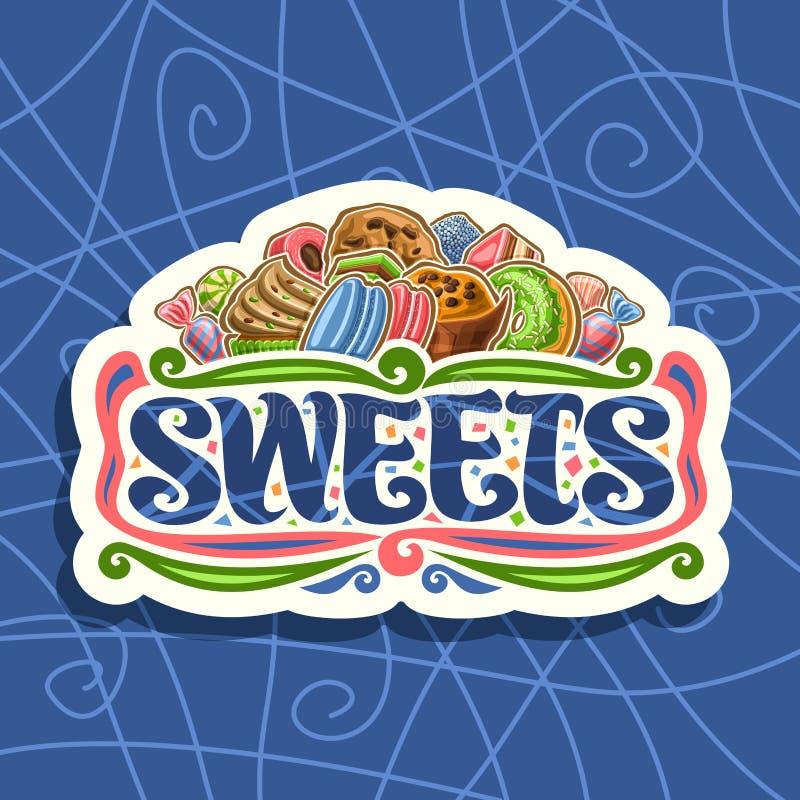 Logotipo do vetor para doces ilustração stock