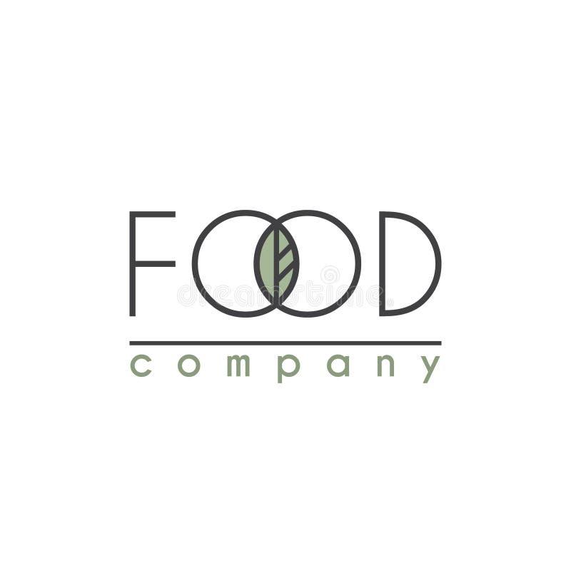 Logotipo do vetor para a empresa alimentar ilustração stock