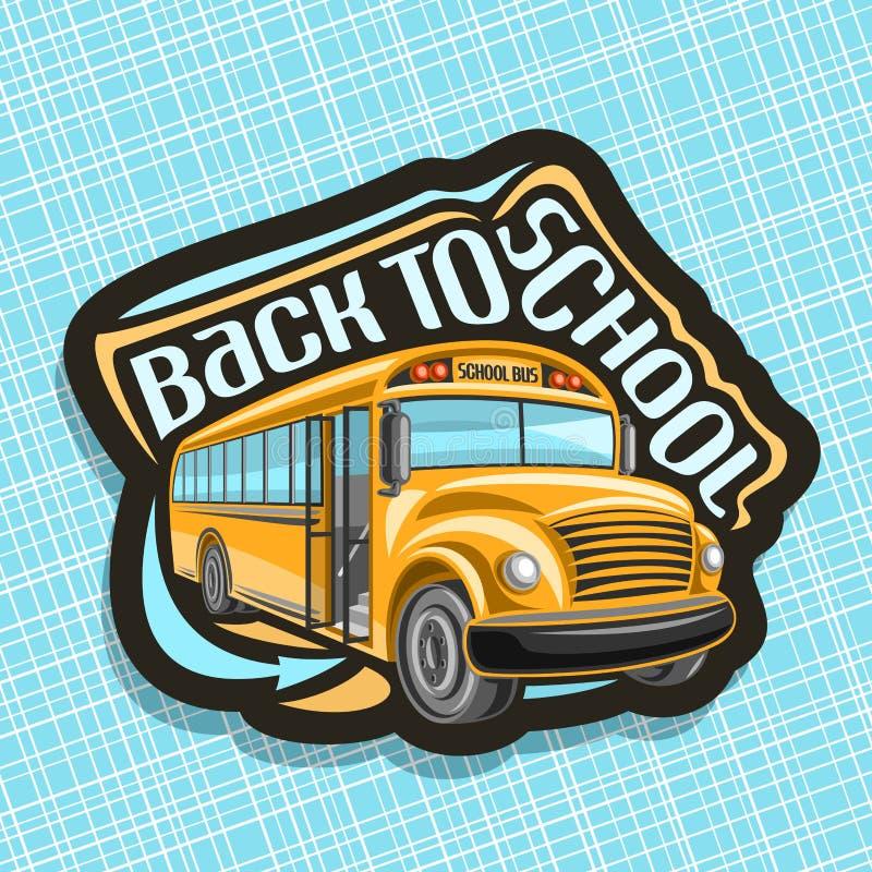 Logotipo do vetor para o ônibus escolar ilustração stock