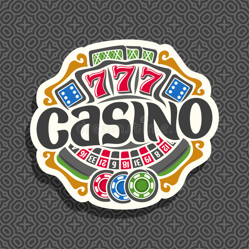 Logotipo do vetor para o casino ilustração royalty free
