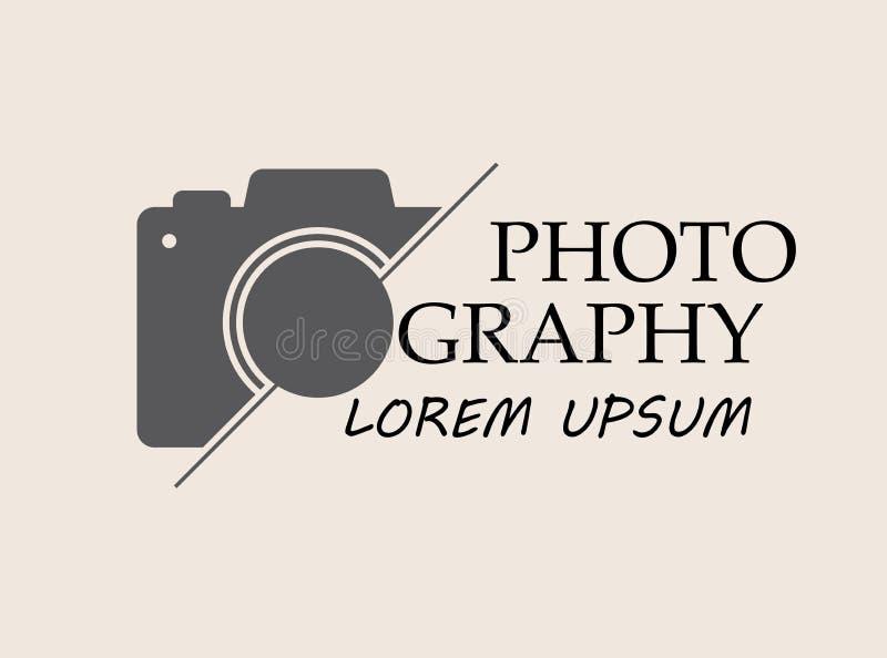 Logotipo do vetor para o fotógrafo Estúdio da fotografia do molde do logotipo, fotógrafo, foto ilustração royalty free