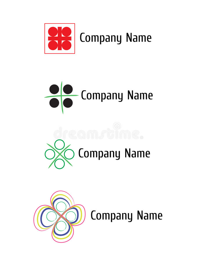 Logotipo do vetor para o negócio ilustração stock