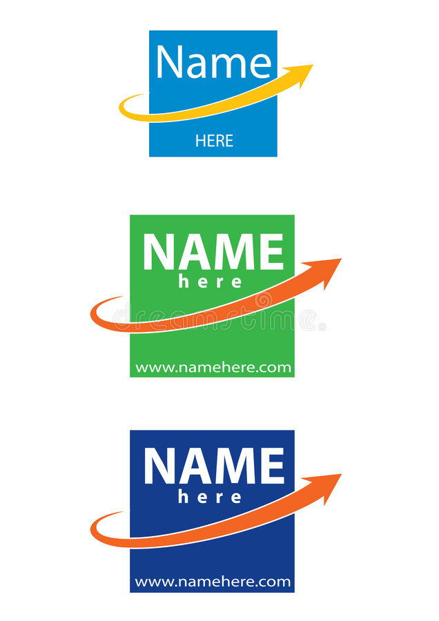 Logotipo do vetor para o negócio ilustração royalty free