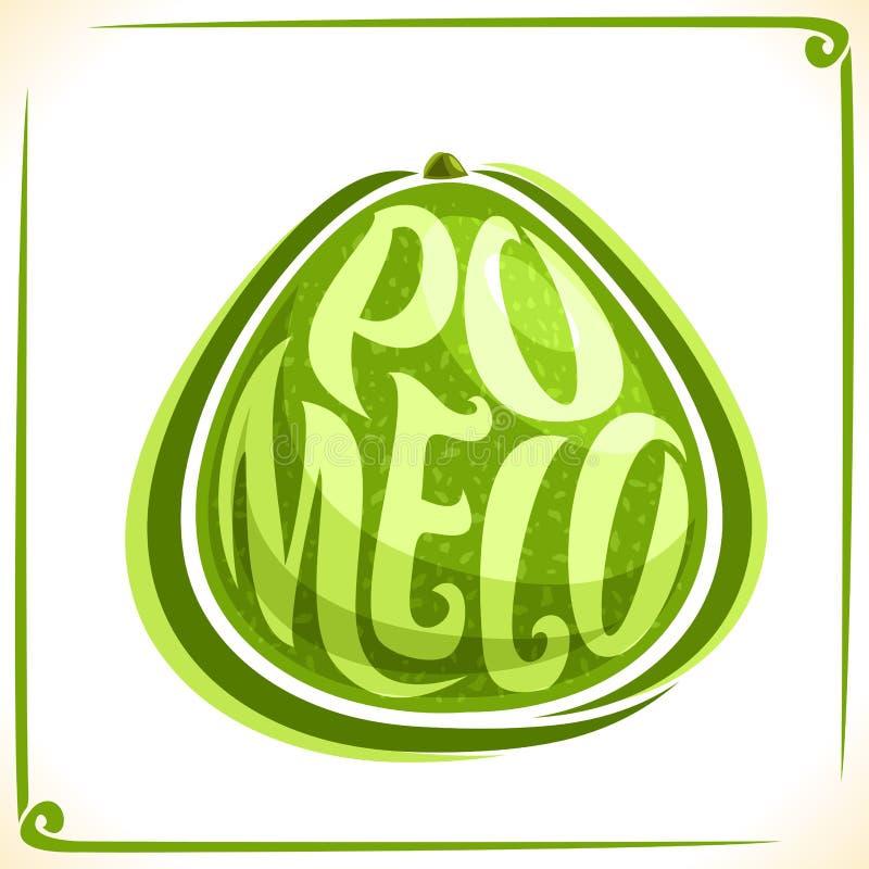 Logotipo do vetor para o Pomelo fresco ilustração royalty free