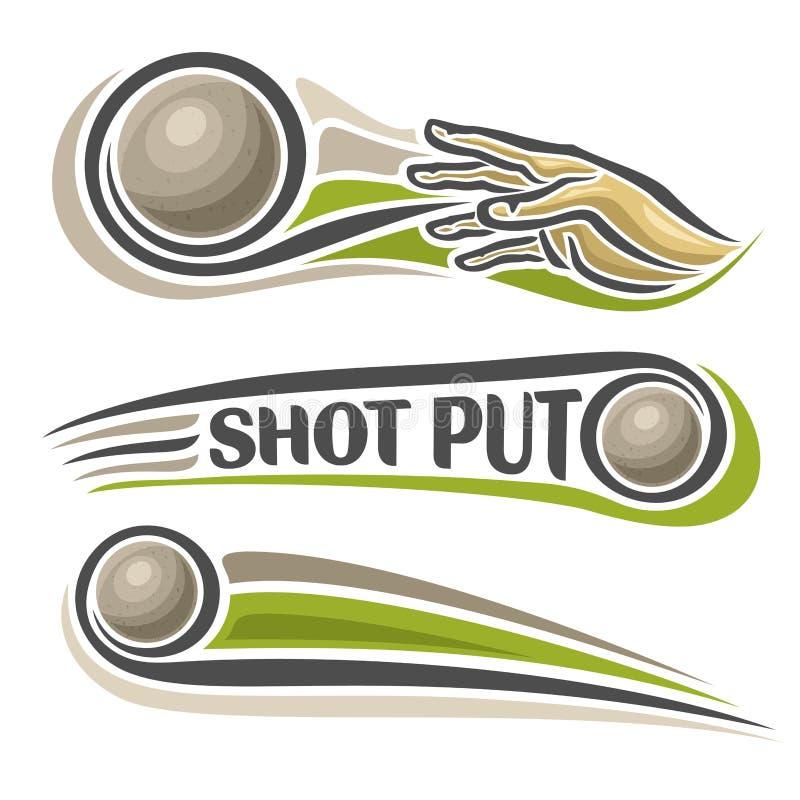 Logotipo do vetor para o tiro do atletismo posto ilustração do vetor