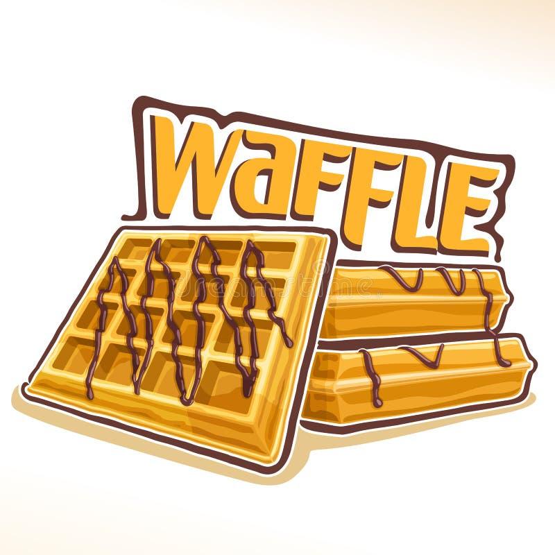 Logotipo do vetor para o waffle belga ilustração stock