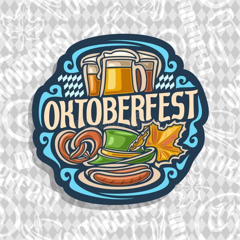 Logotipo do vetor para Oktoberfest ilustração royalty free