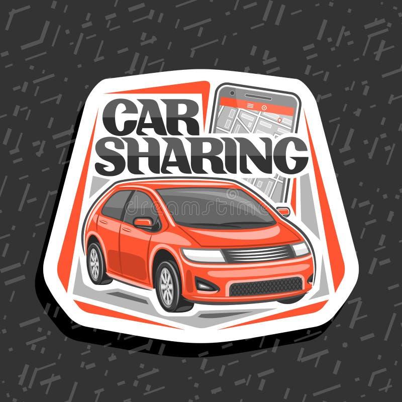 Logotipo do vetor para a partilha de carro ilustração royalty free