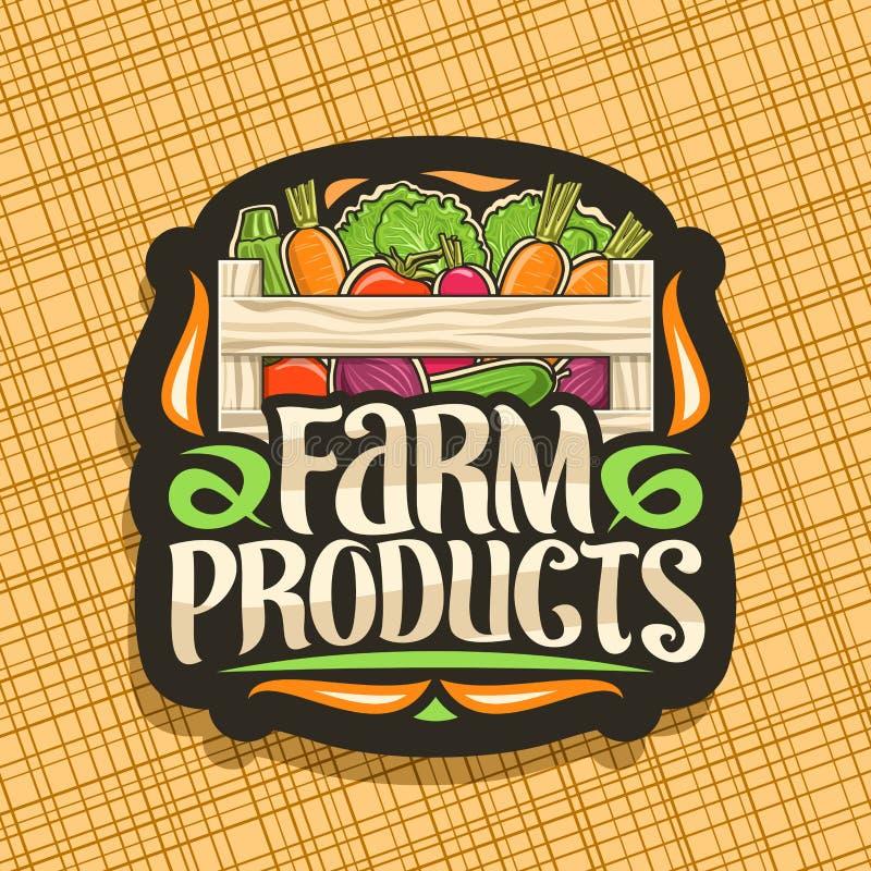 Logotipo do vetor para produtos agr?colas ilustração royalty free