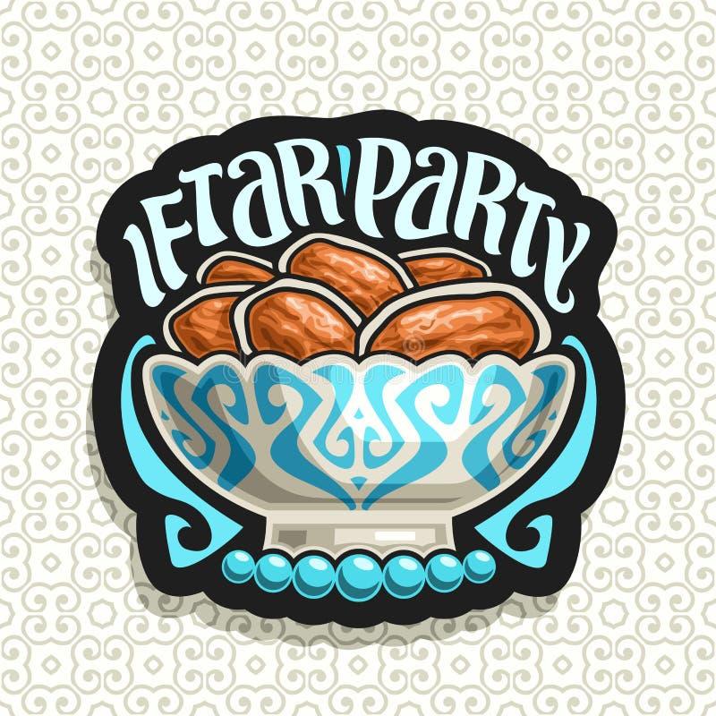 Logotipo do vetor para Ramadan Iftar Party ilustração royalty free