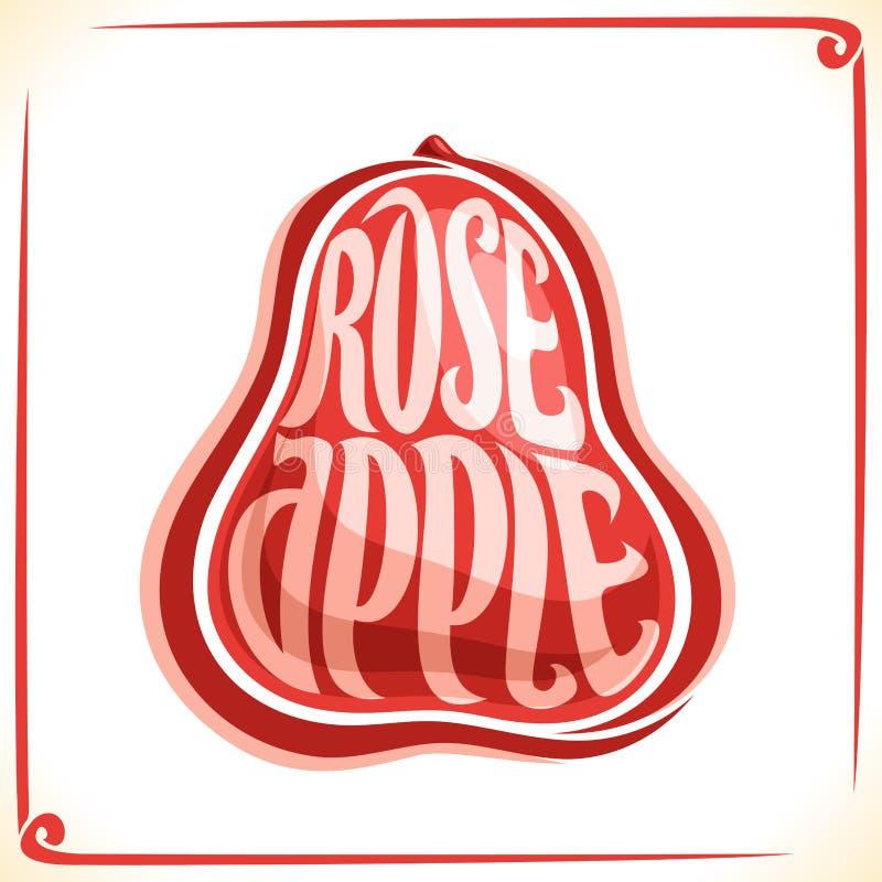 Logotipo do vetor para Rose Apple ilustração stock