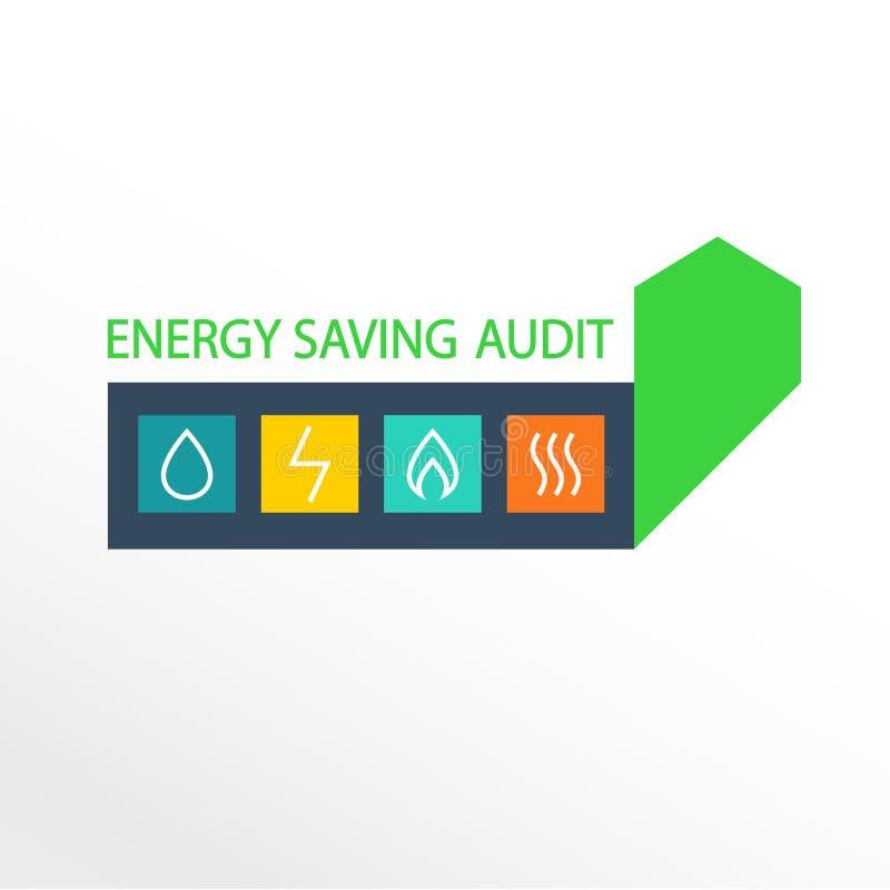 Logotipo do vetor, uso eficaz da energia ilustração do vetor