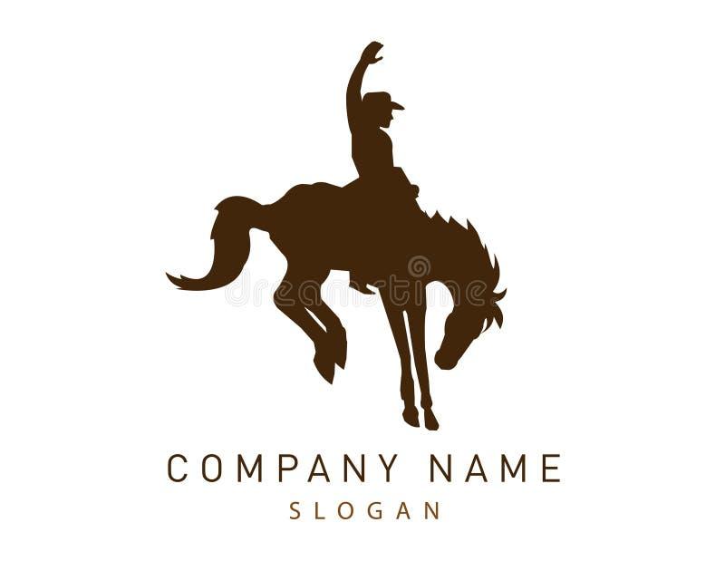 Logotipo do vetor do vaqueiro ilustração stock