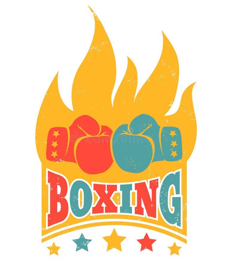 Logotipo do vintage para encaixotar ilustração royalty free