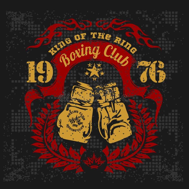 Logotipo do vintage para um encaixotamento no fundo do grunge ilustração royalty free