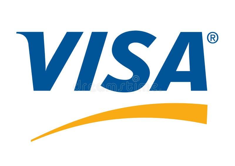 Logotipo do visto ilustração do vetor