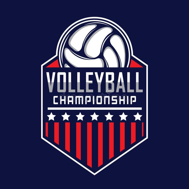 Logotipo do voleibol, logotipo de América ilustração royalty free