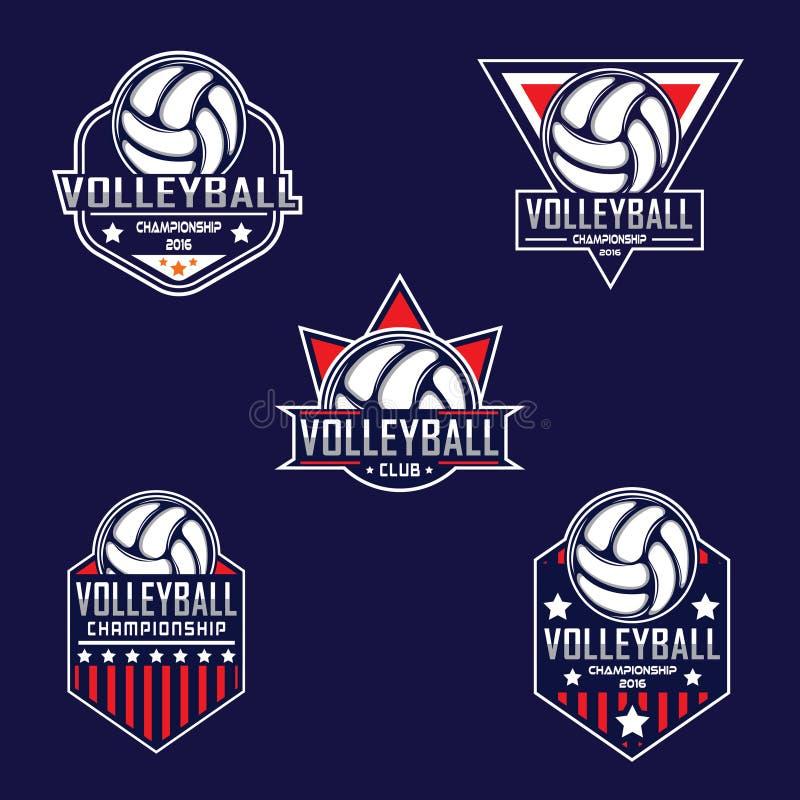 Logotipo do voleibol, logotipo de América ilustração stock
