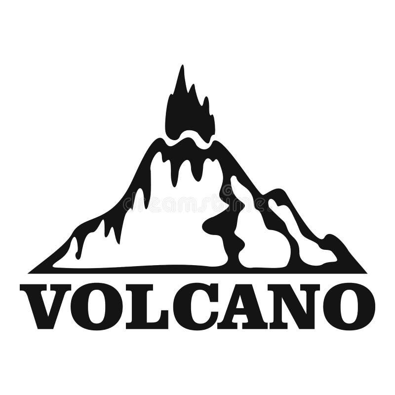 Logotipo do vulcão do fogo, estilo simples ilustração stock