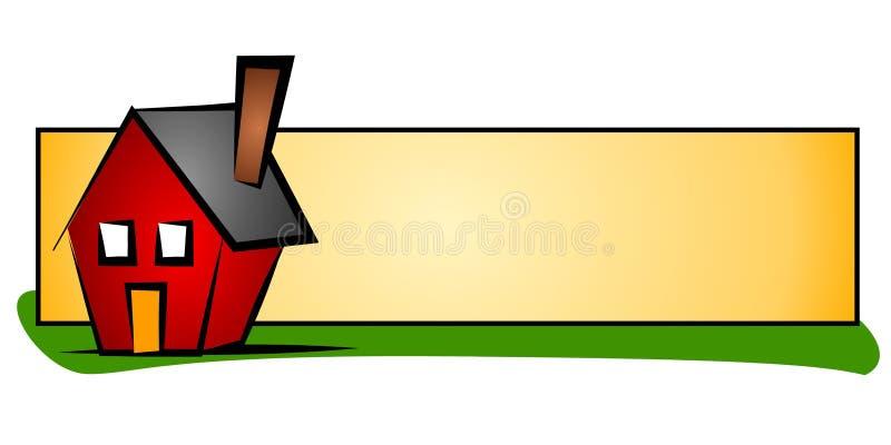 Logotipo do Web da casa dos bens imobiliários ilustração do vetor
