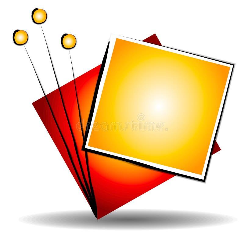 Logotipo do Web site da arte abstrata ilustração stock