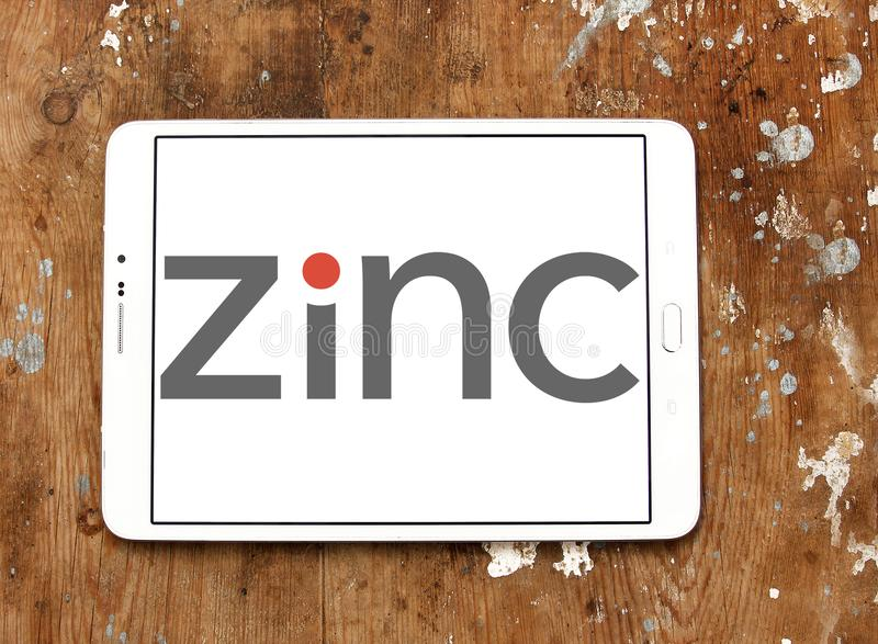 Logotipo do zinco imagens de stock royalty free