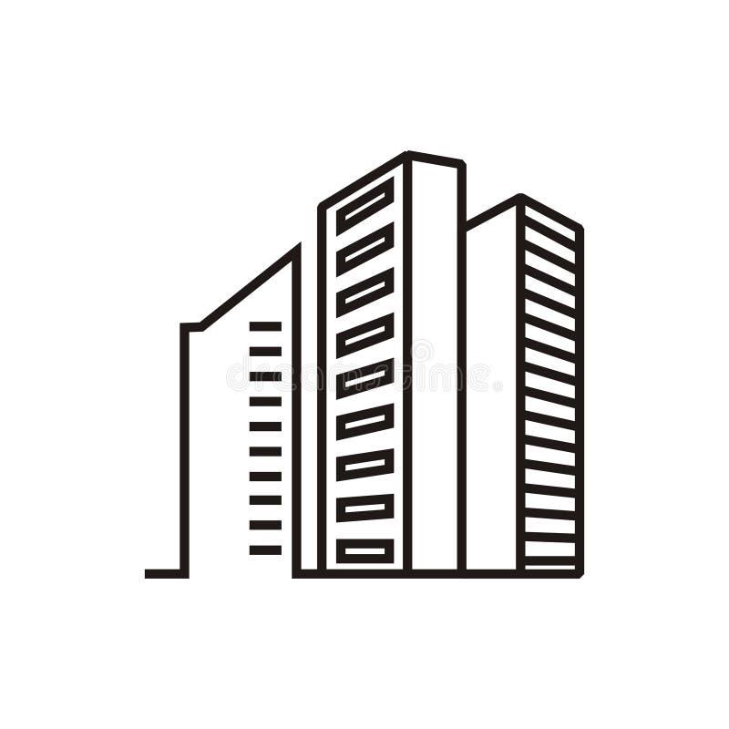 Logotipo dos apartamentos da construção ilustração royalty free