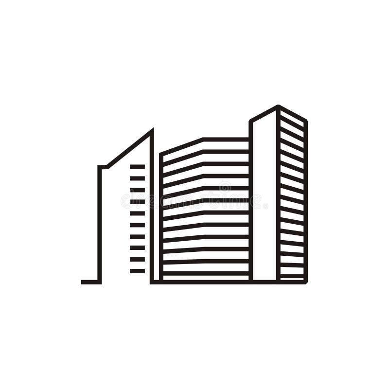 Logotipo dos apartamentos da construção ilustração stock
