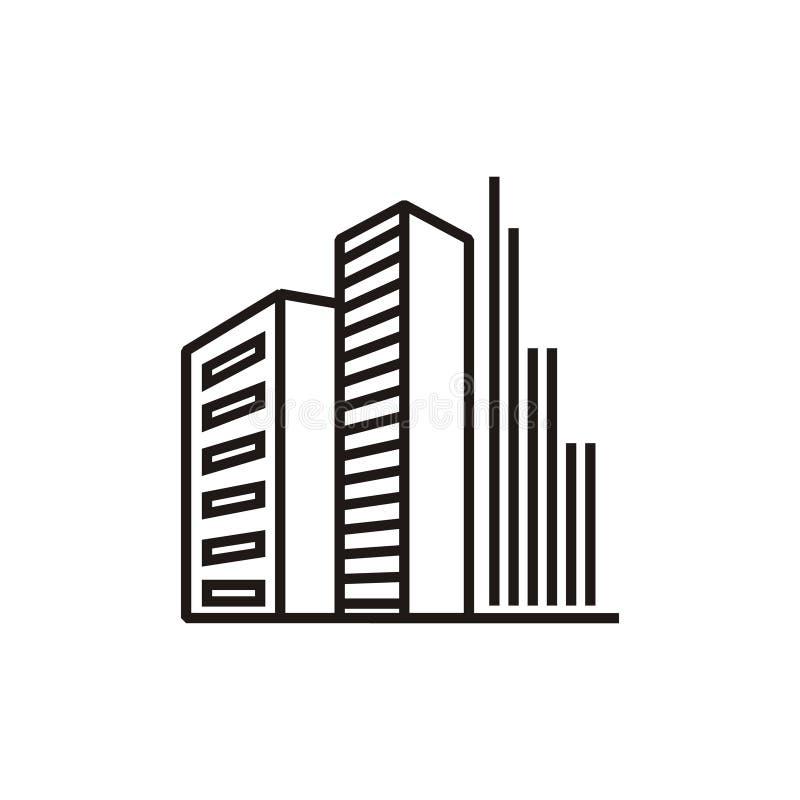Logotipo dos apartamentos da construção ilustração do vetor