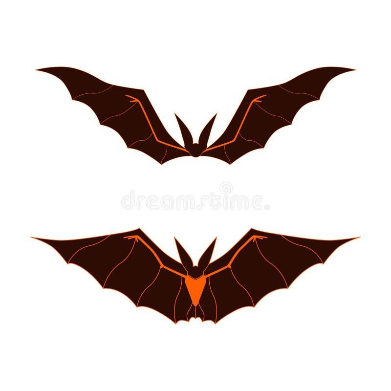 Logotipo dos bastões ilustração royalty free