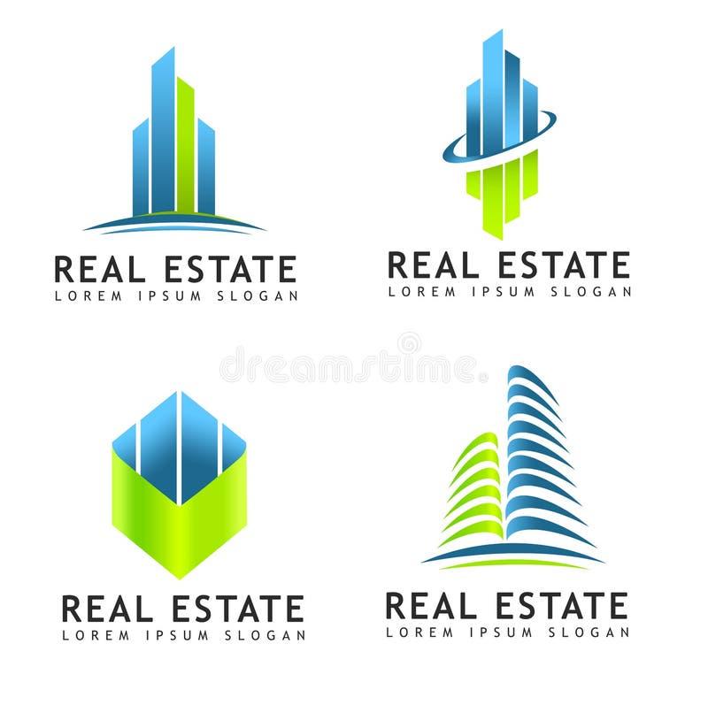 Logotipo dos bens imobiliários ilustração royalty free