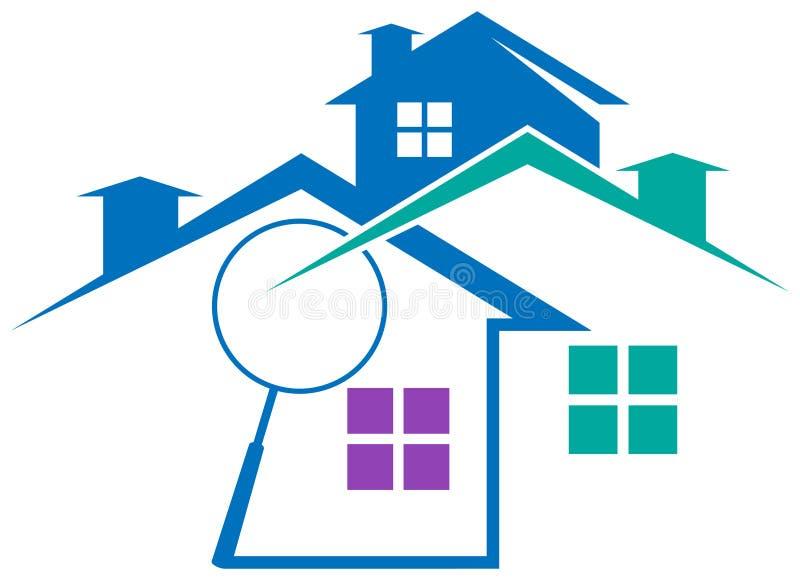 Logotipo dos bens imobiliários ilustração stock