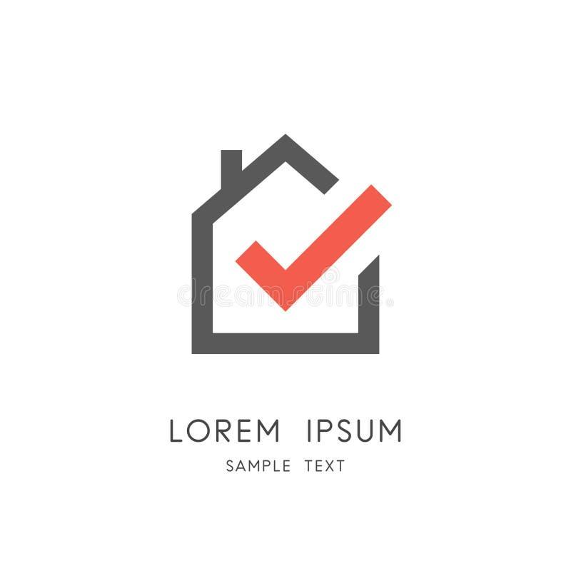 Logotipo dos bens imobiliários e da indústria da construção civil ilustração royalty free