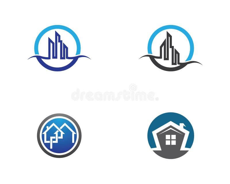 Logotipo dos bens imobili?rios ilustração royalty free
