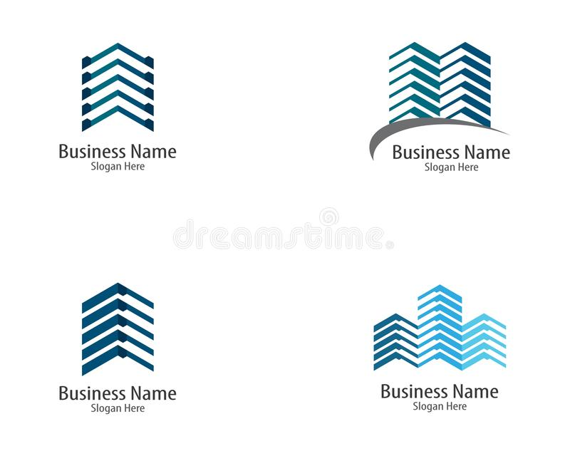 Logotipo dos bens imobili?rios ilustração stock
