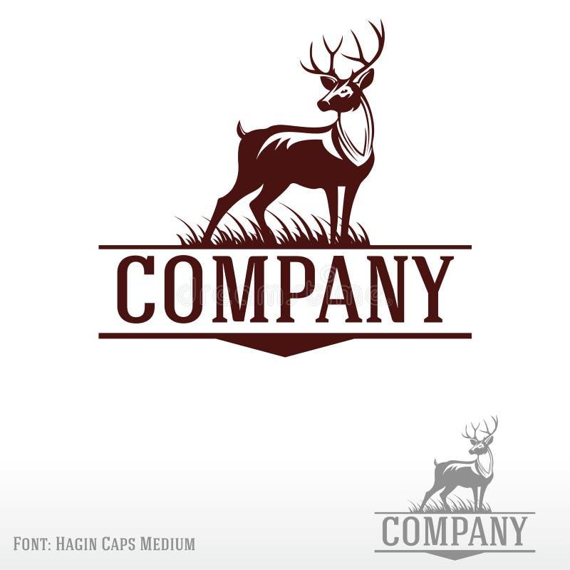 Logotipo dos cervos ilustração royalty free